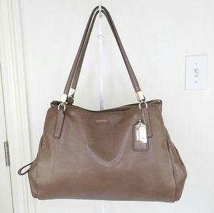 Coach Madison Cafe Carryall Leather Shoulder Bag